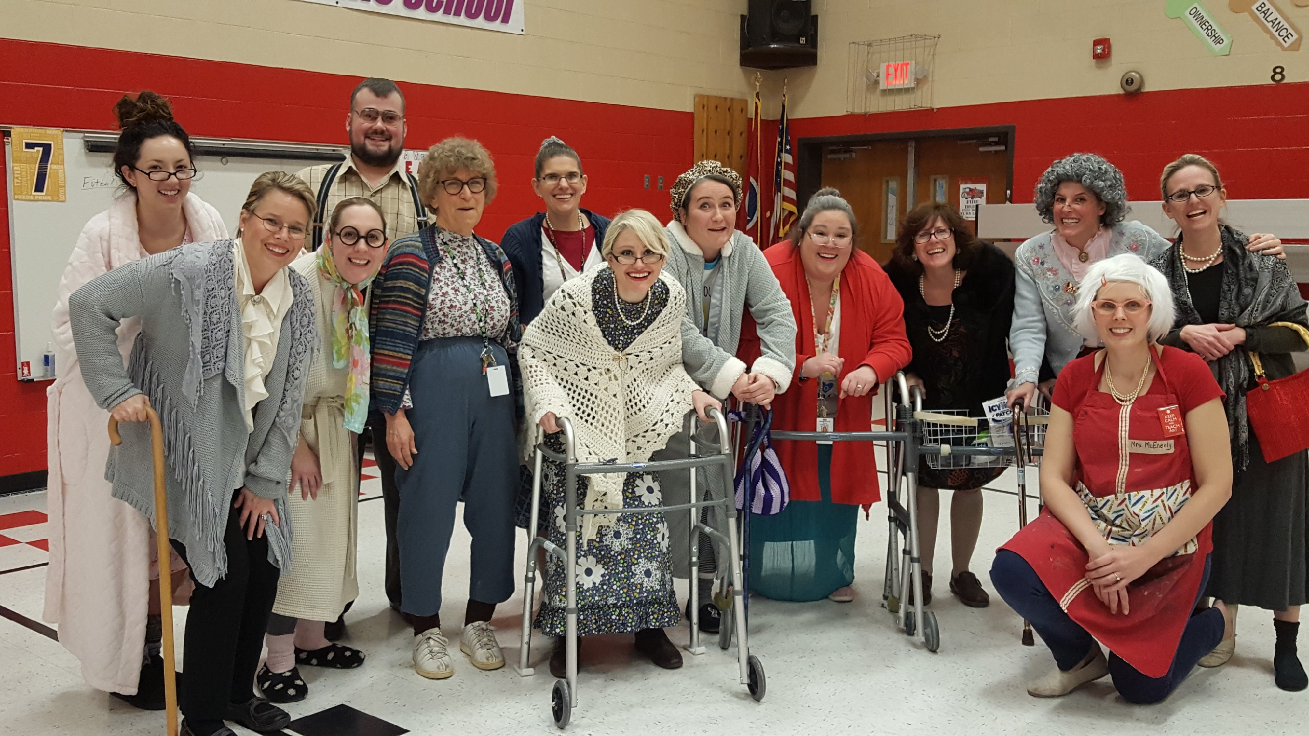 GWE students and faculty celebrated the 100th day of school by dressing like 100 year-olds.